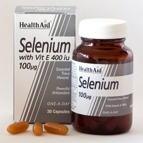 HEALTH AID Selenium 100μg with Vitamin E 400iu 30Caps