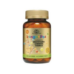 SOLGAR Kangavites Multivitamin & Mineral Formula 60 Chewable Tabs Tropical Flavour