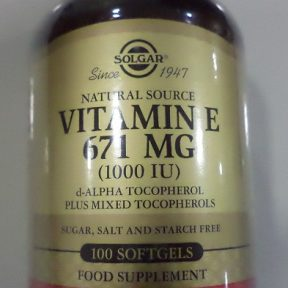 SOLGAR Vitamin E Natural softgels 671mg (1000 IU) 100softgels