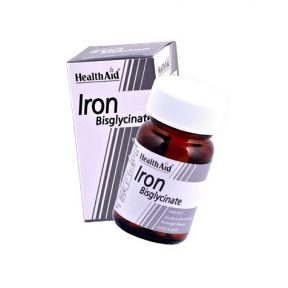 HEALTH AID Iron Bisglycinate with Vitamin C 30 Tabs