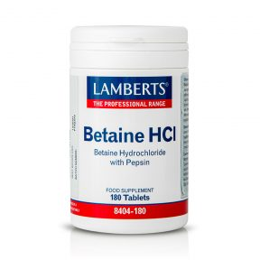 Lamberts Betaine Hcl 324mg with Pepsin 180 ταμπλέτες